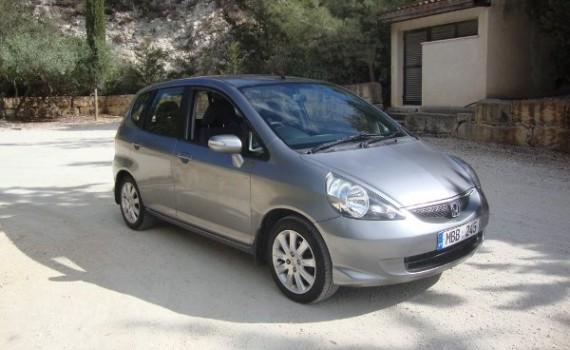 Car for sale in Paphos Cyprus : Silver Honda Jazz