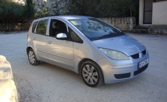 Car for sale in Paphos Cyprus : Blue Mitsubishi Colt