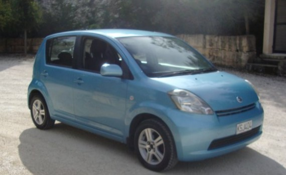 Car for sale in Paphos Cyprus : Blue Daihatsu Sirion
