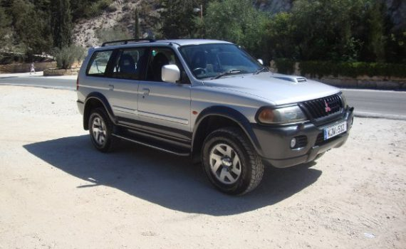Car for sale in Paphos Cyprus : Silver Mitsubishi Pajero Sport