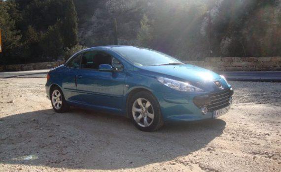 Car for sale in Paphos Cyprus : Peugeot 307cc blue