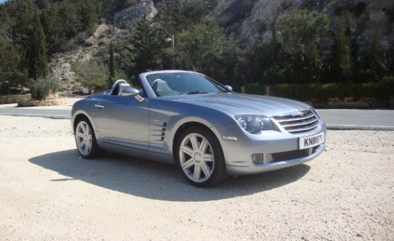Car for sale in Paphos Cyprus : Silver Chrysler Crossfire
