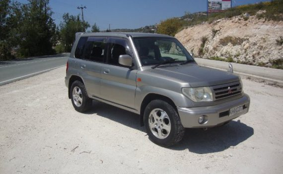 Car for sale in Paphos Cyprus : Silver Mitsubishi Pinin