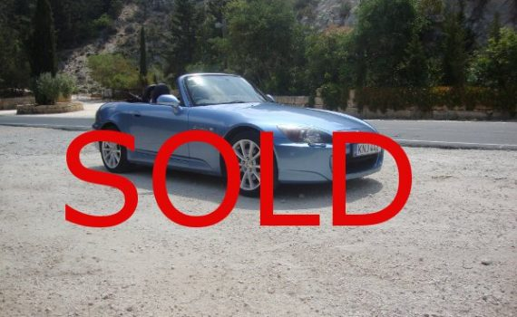 Sold in Paphos Cyprus : Blue Honda S2000