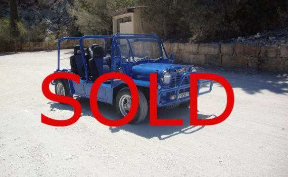 Sold in Paphos Cyprus : Blue Mini Moke