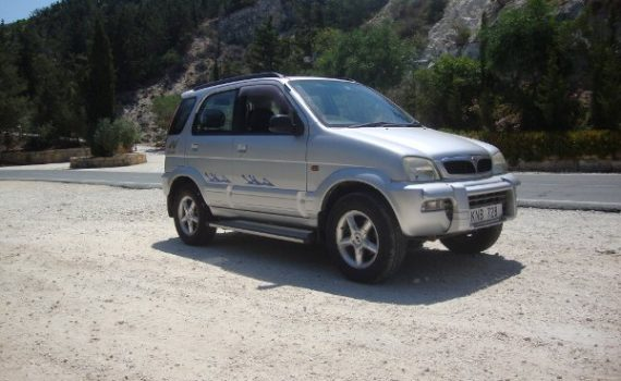 Car for sale in Paphos Cyprus : Silver Perodua Kembara