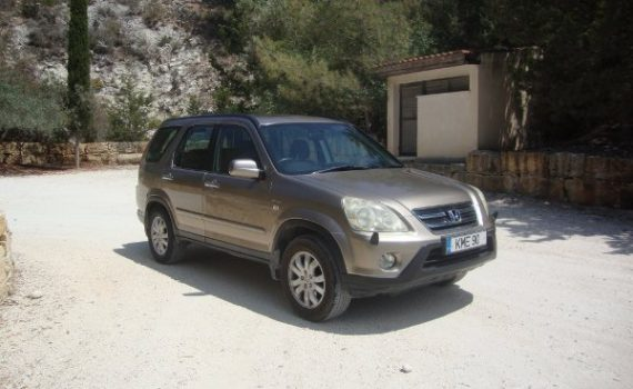Car for sale in Paphos Cyprus : Gold Honda CRV