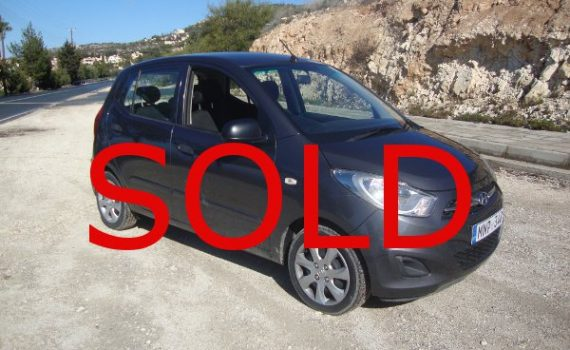 Sold in Paphos Cyprus : Hyundai i10
