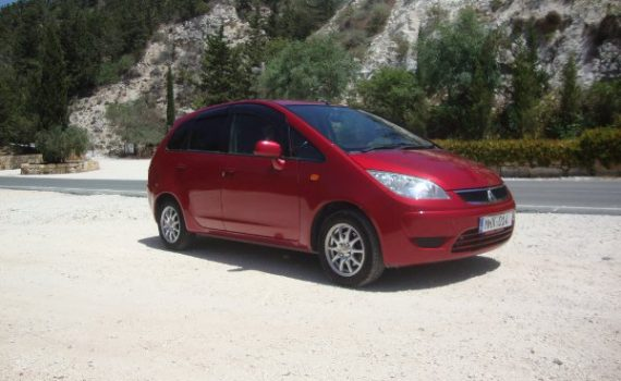 Car for sale in Paphos Cyprus : Red Mitsubishi Colt Plus