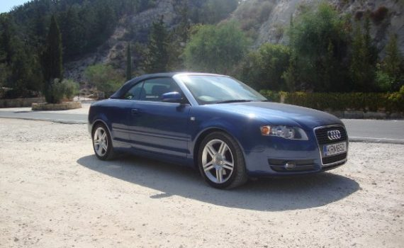 Car for sale in Paphos Cyprus : Blue Audi A4 Convertible
