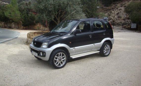 Car for sale in Paphos Cyprus : Black/Silver Daihatsu Terios
