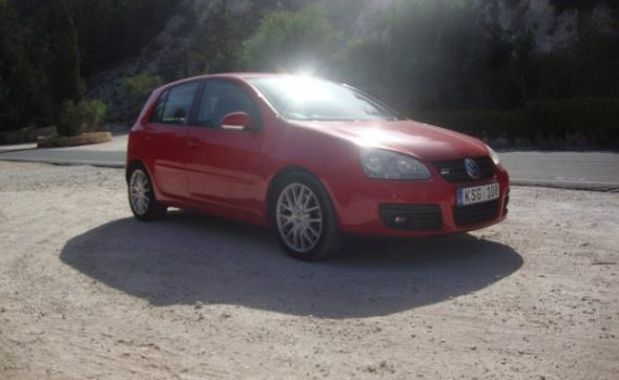 Car for sale in Paphos Cyprus : Red VW Golf GT