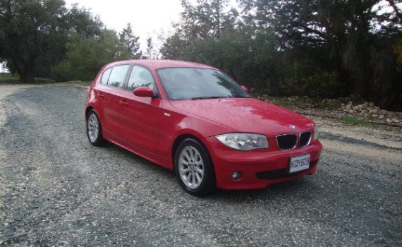 Car for sale in Paphos Cyprus : Red BMW 116i
