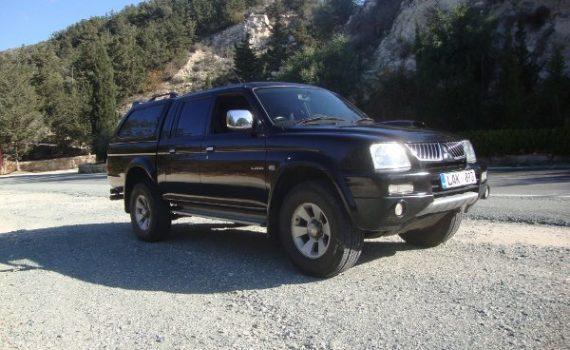 Car for sale in Paphos Cyprus : Black Mitsubsihi L200 Trojan