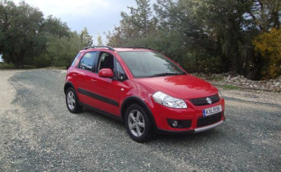 Car for sale in Paphos Cyprus : Red Suzuki SX4