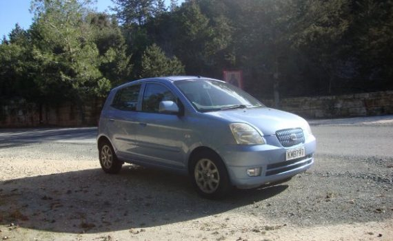 Car for sale in Paphos Cyprus : Blue Kia Picanto