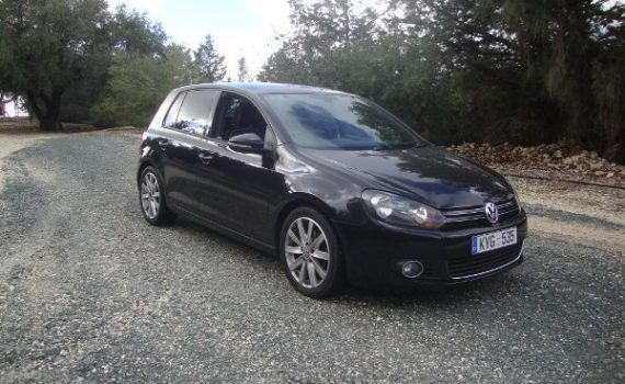 Car for sale in Paphos Cyprus : Black VW Golf
