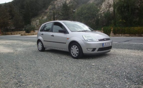 Car for sale in Paphos Cyprus : Silver Ford Fiesta Ghia