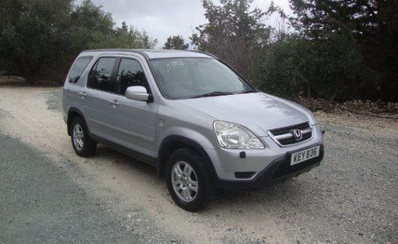 Car for sale in Paphos Cyprus : Silver Honda CRV