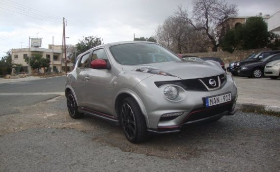 Car for sale in Paphos Cyprus : Silver Nissan Juke Nismo