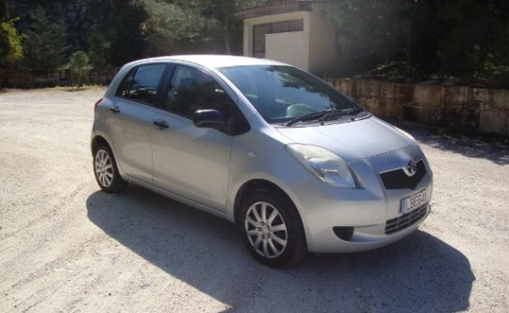 Car for sale in Paphos Cyprus : Silver Toyota Yaris