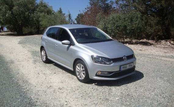 Car for sale in Paphos Cyprus : Silver VW Polo