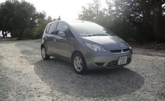 Car for sale in Paphos Cyprus : Silver Mitsubishi Colt MHX