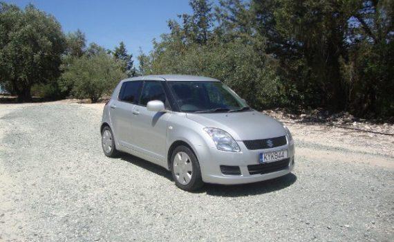 Car for sale in Paphos Cyprus : Silver Suzuki Swift