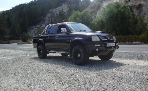 Car for sale in Paphos Cyprus : Black Mitsubishi L200 Warrior