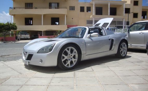 Car for sale in Paphos Cyprus : Silver Vauxhall VX220