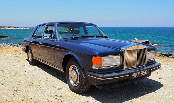 Car for sale in Paphos Cyprus : Royal Blue Metallic Rolls Royce Silver Spirit