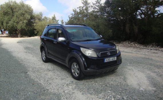 Car for sale in Paphos Cyprus : Black Toyota Rush