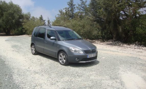 Car for sale in Paphos Cyprus : Silver Skoda Roomster