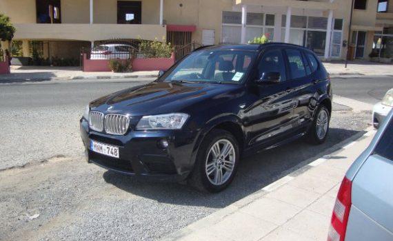 Car for sale in Paphos Cyprus : Black BMW X3