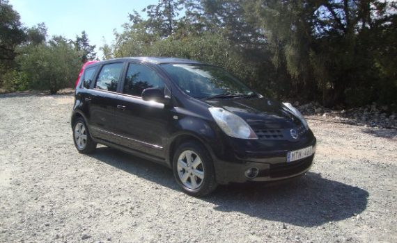 Car for sale in Paphos Cyprus : Black Nissan Note