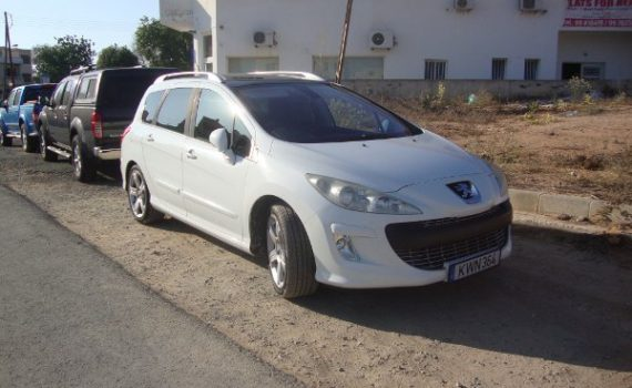 Car for sale in Paphos Cyprus : White Peugeot 308SW