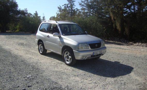 Car for sale in Paphos Cyprus : Silver Suzuki Grand Vitara