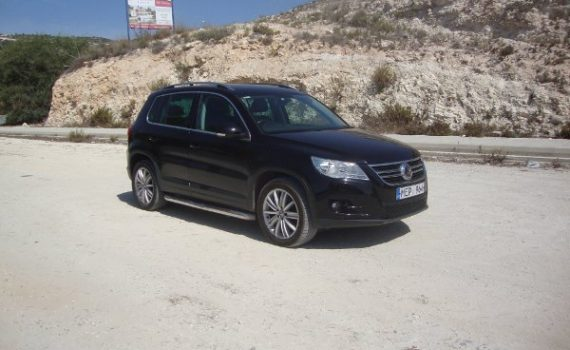 Car for sale in Paphos Cyprus : Black VW Tiguan
