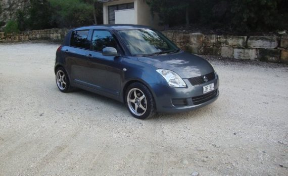 Car for sale in Paphos Cyprus : Grey Suzuki Swift