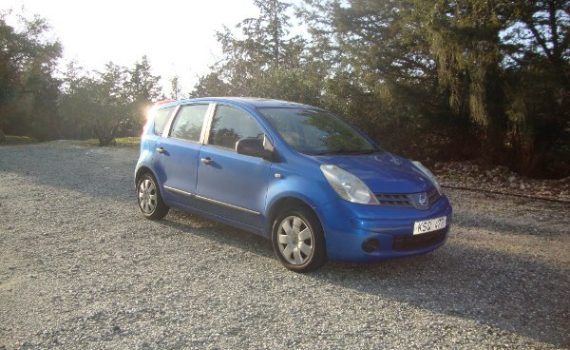 Car for sale in Paphos Cyprus : Blue Nissan Note