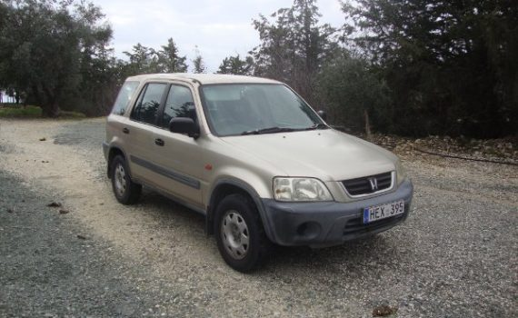 Car for sale in Paphos Cyprus : Gold Honda CRV