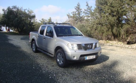 Car for sale in Paphos Cyprus : Silver Nissan Navara