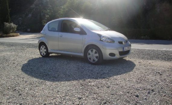 Car for sale in Paphos Cyprus : Silver Toyota Aygo