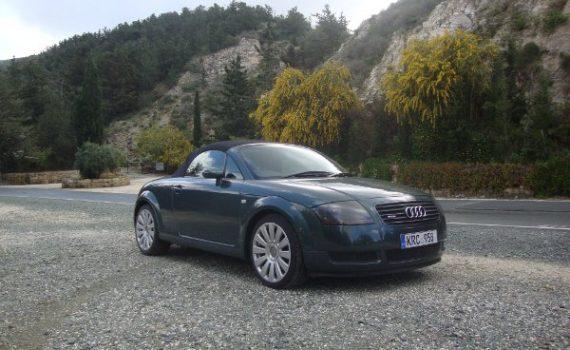 Car for sale in Paphos Cyprus : Green Audi TT Quattro