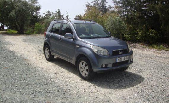 Car for sale in Paphos Cyprus : Blue Daihatsu Terios