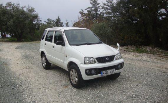 Car for sale in Paphos Cyprus : White Daihatsu Terios