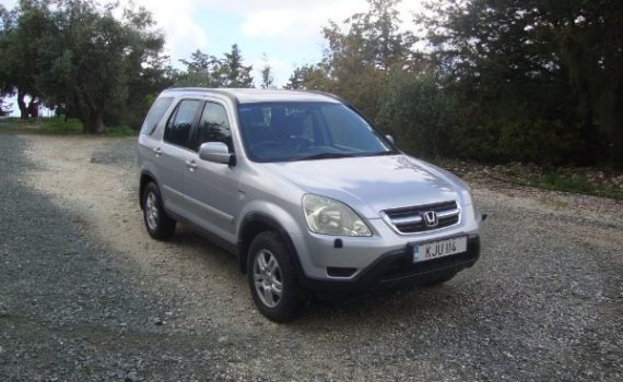 Car for sale in Paphos Cyprus : Silver Honda CRV