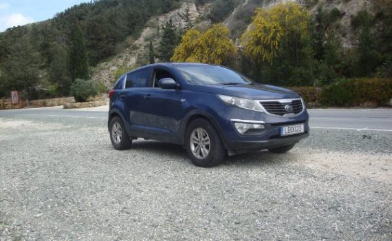 Car for sale in Paphos Cyprus : Blue Kia Sportage
