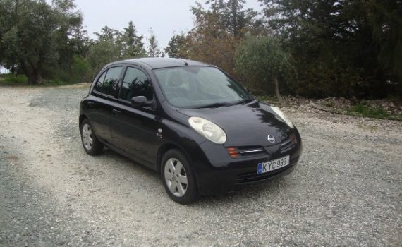Car for sale in Paphos Cyprus : Black Nissan Micra SVE